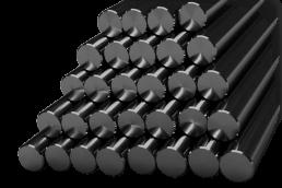 Líneas de corte de barra maciza